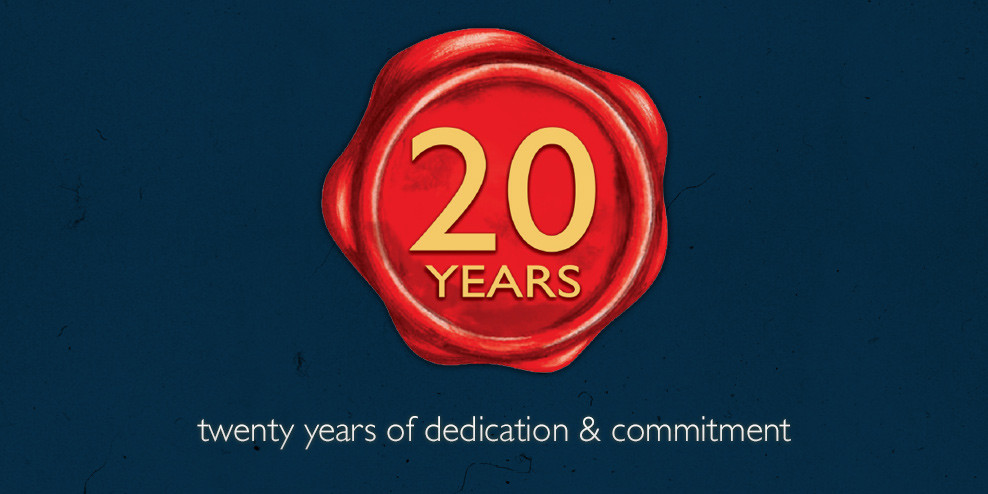 20 Years of Dedication & Commitment